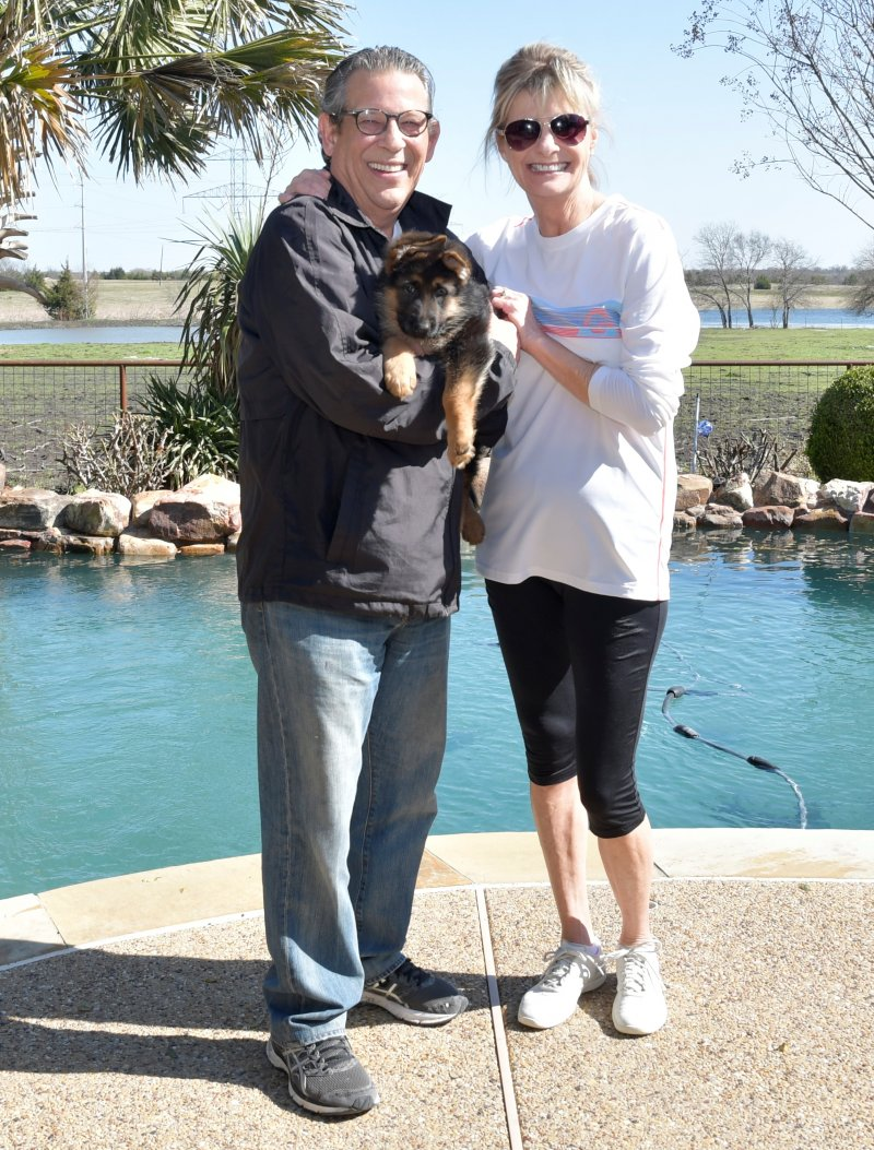 Heidi a Nix and Emma female with his new owners Mike and Sharon Naftel. Picture taken on March 09, 2019
